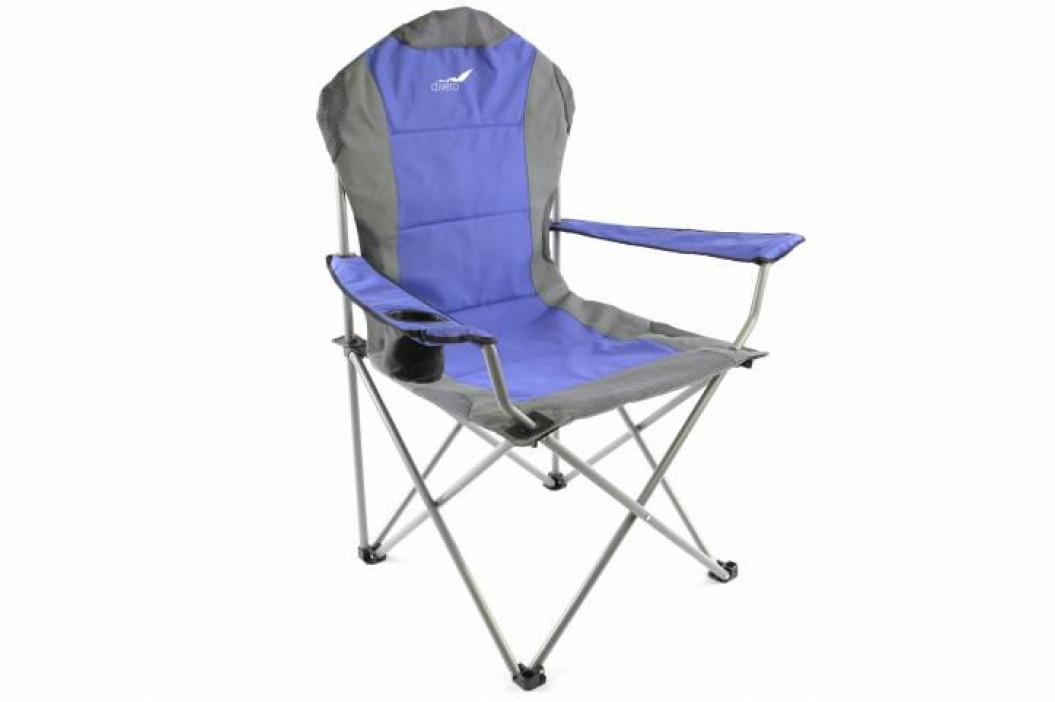 Divero Deluxe 35087  Skládací kempingová rybářská židle - modro/šedá