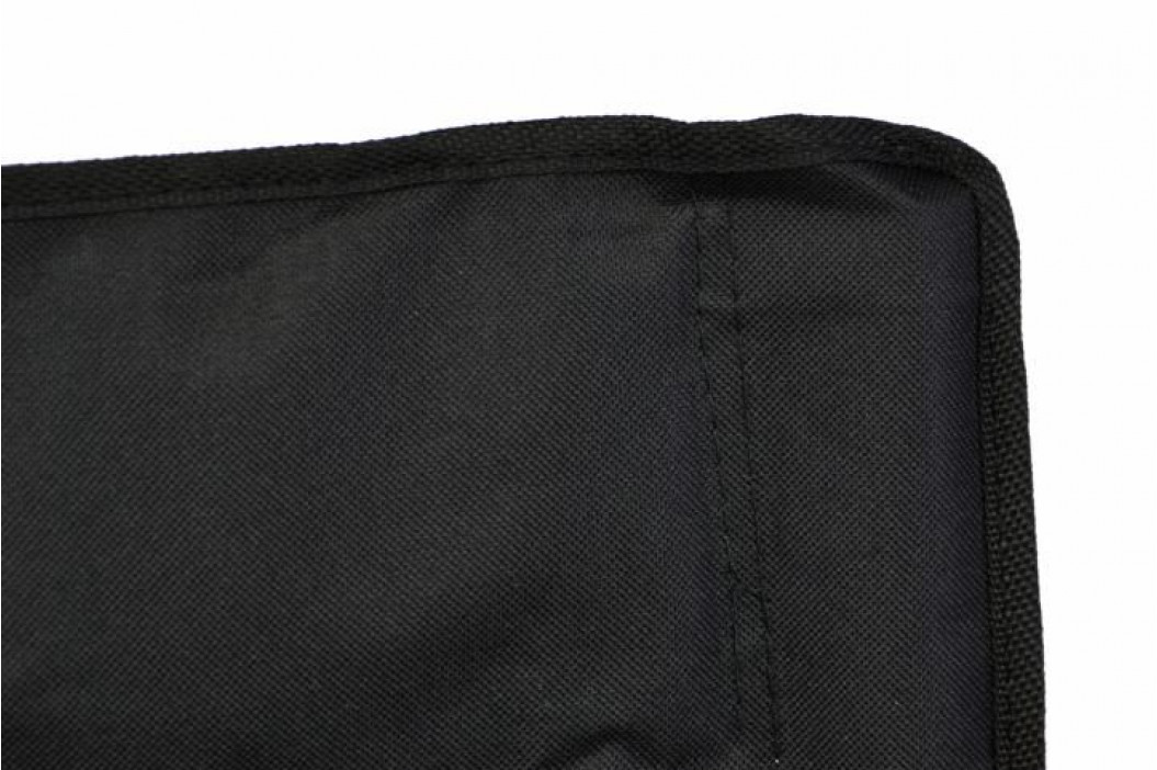 Divero 33263 Skládací kempingová židle s držákem nápojů, černá