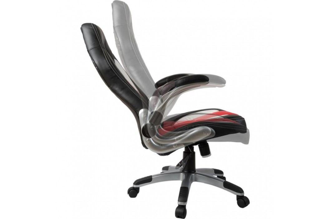 Kancelářská židle GT Series One černá/červená/bílá