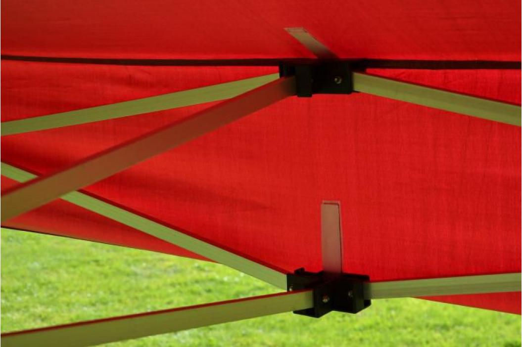 Garthen PROFI 373 Zahradní párty stan nůžkový 3x3 m vínový + 2 boční stěny
