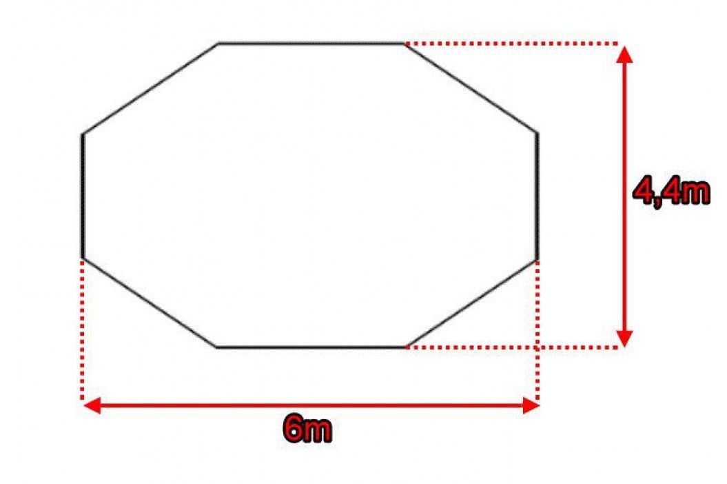 Garthen 914 Párty stan - krémový, 6 x 4,4 x 3,3 m