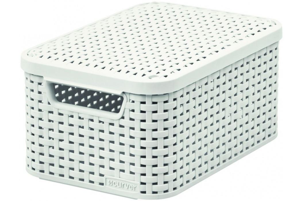 CURVER 41115 Košík box s víkem - S - krémový