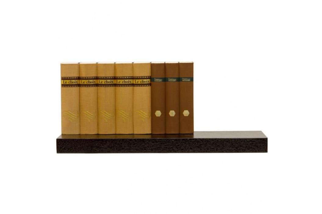 STILISTA SALIENTO 30869 Nástěnná police  - hnědočerná 70 cm