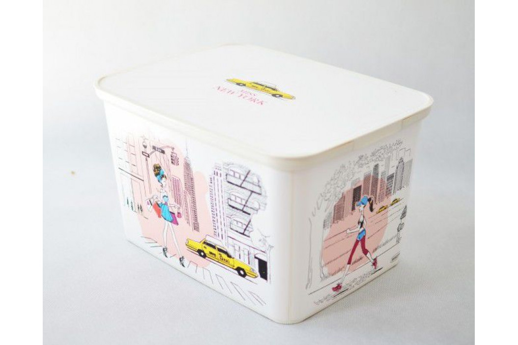CURVER 32334 Úložný box DECO - L - Miss New York