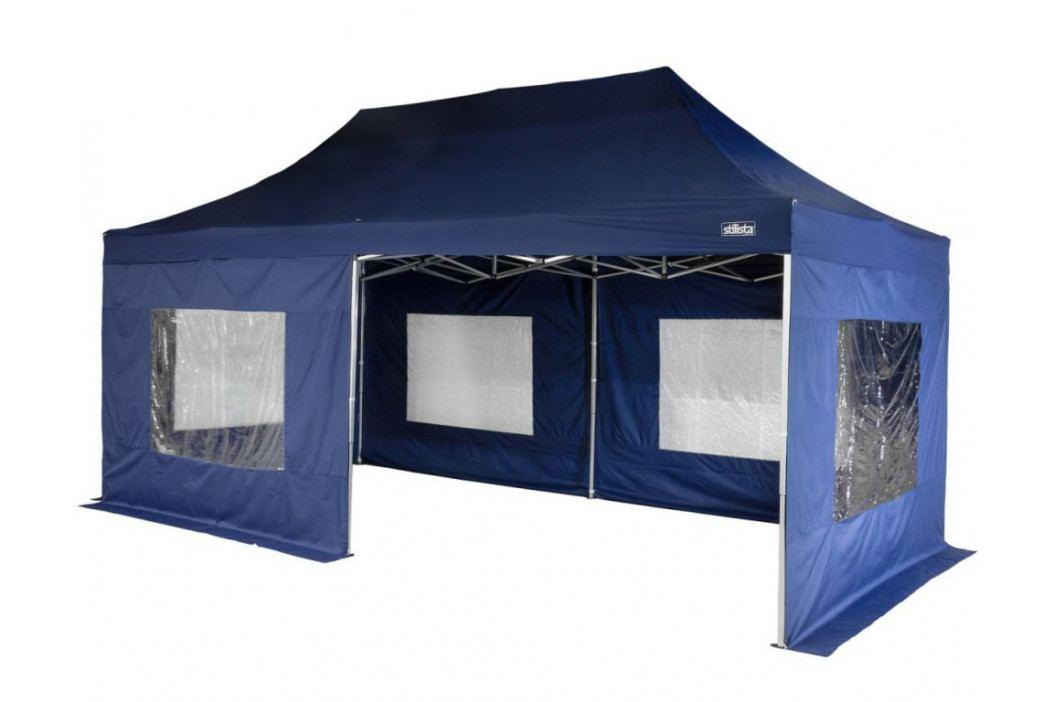 STILISTA 1547 Zahradní párty stan - modrý 3 x 6 m + boční díly