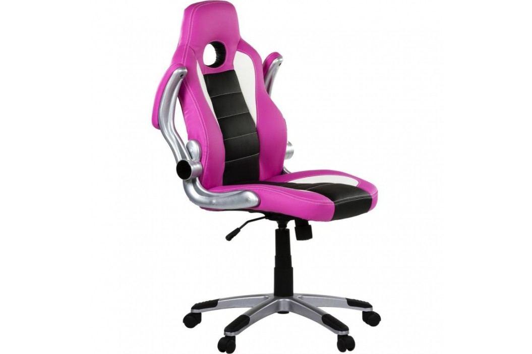 Kancelářská židle GT Series One růžová/černá/bílá
