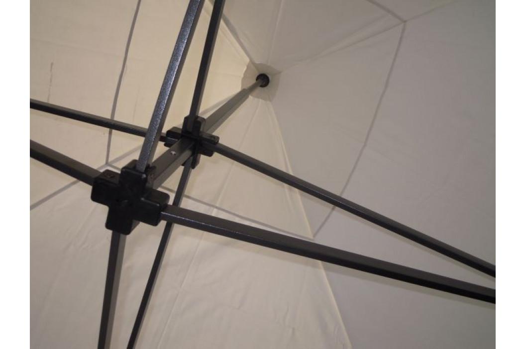 Zahradní párty stan DELUXE nůžkový + boční stěny - 3 x 3 m bílá 41060