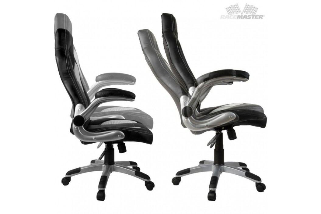 Otočná kancelářská židle GT Series One - žlutá/černá/bílá