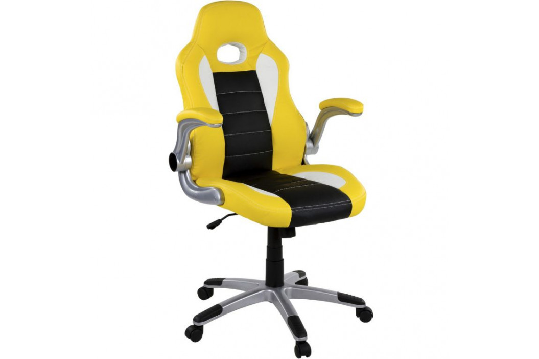 Kancelářská židle GT Stripes Series žlutá/černá/bílá