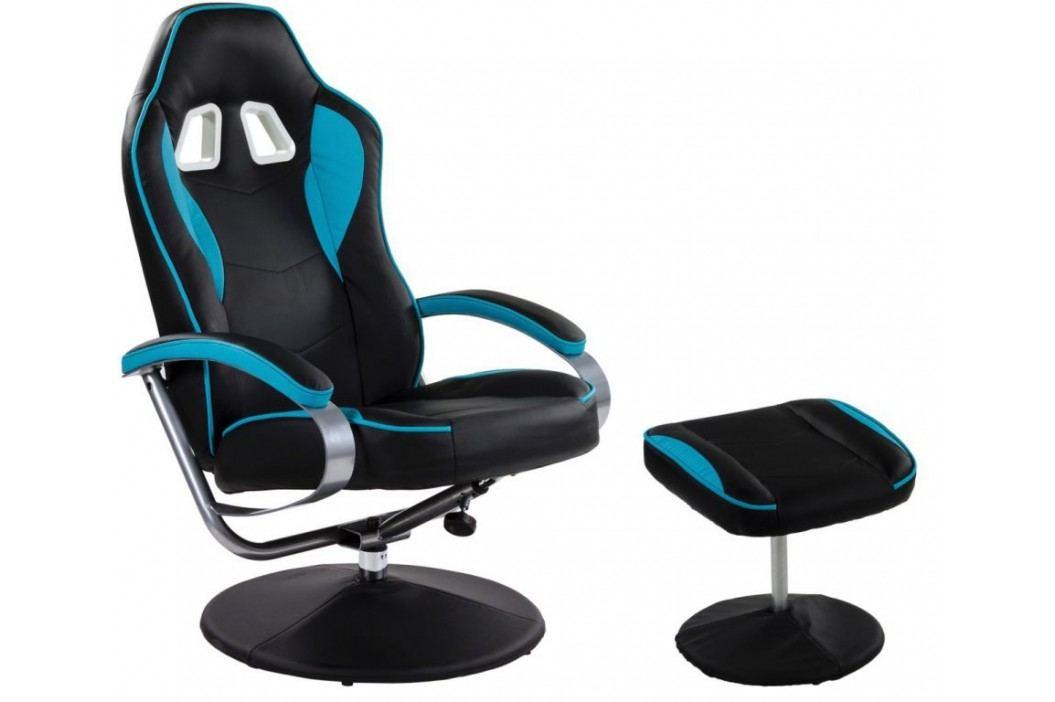 Kancelářská židle GT RELAX RACER - černá/sv. modrá