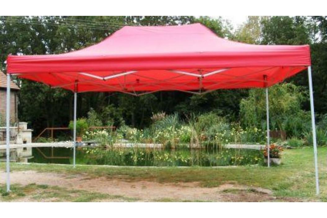 Tradgard 41022 Zahradní párty stan CLASSIC nůžkový + boční stěny - 3 x 4,5 m červený