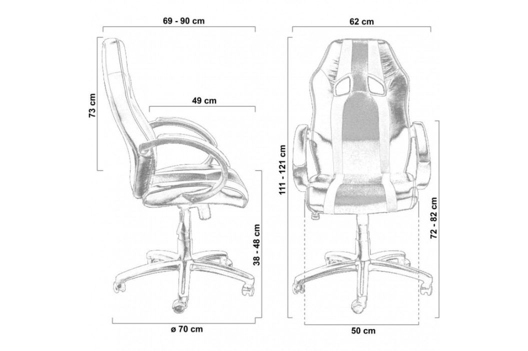 Kancelářská židle GS Stripes Series černá/růžový