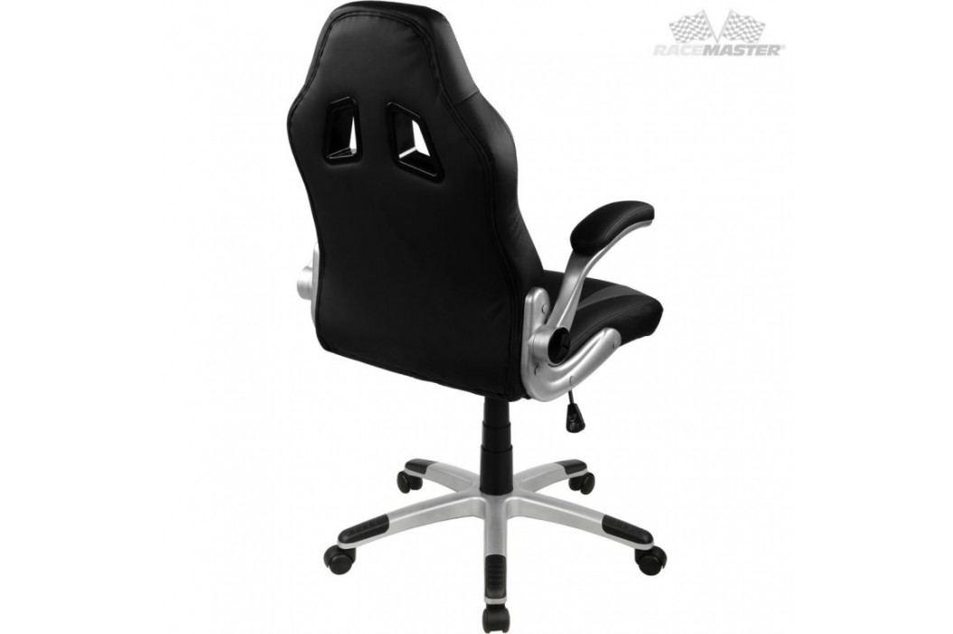 Kancelářská židle GT Stripes Series - černá/červená