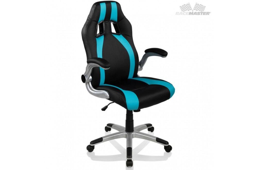 Kancelářská židle GT Stripes Series - černá/světle modrá