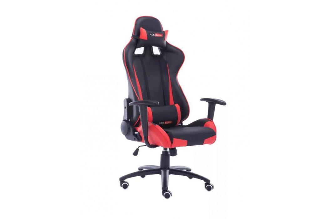 Kanclářská židle - křeslo KANSAS - červená