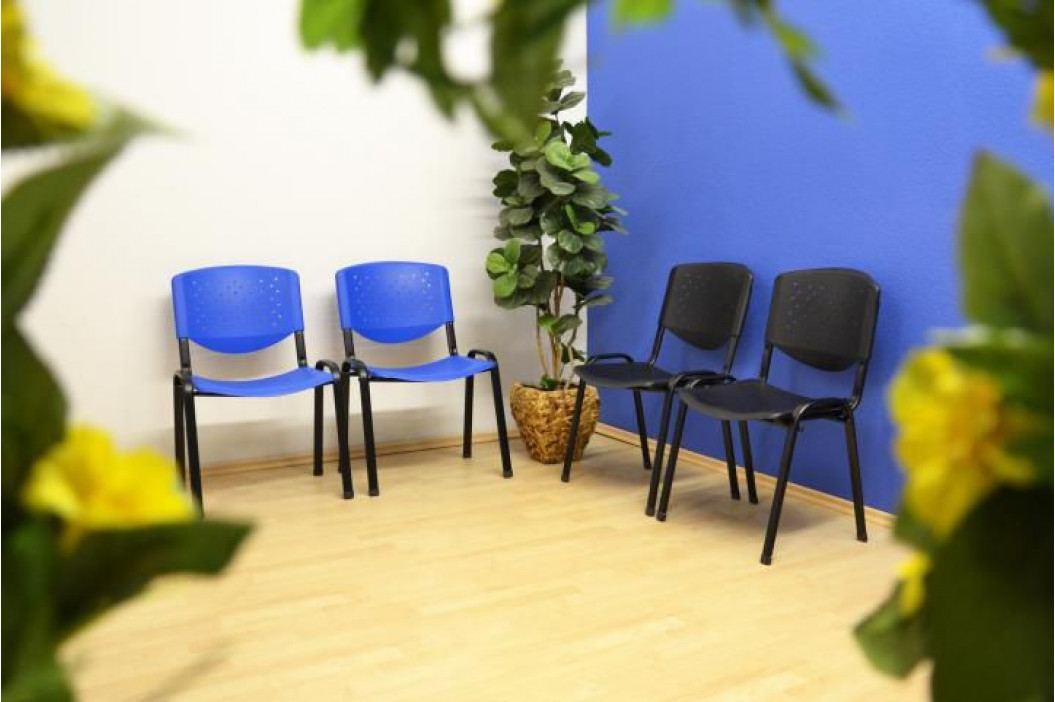 Garthen 40750 Sada 2 ks stohovatelné plastové kancelářské židle - černá