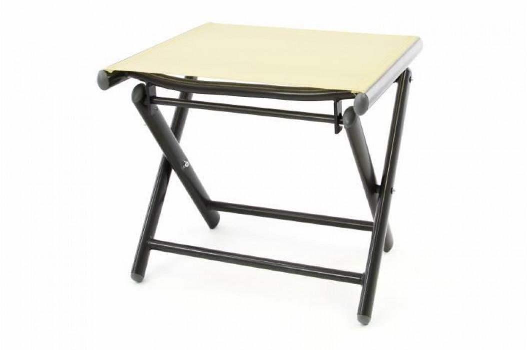 Garthen 40806 Hliníková zahradní stolička - skládací krémová