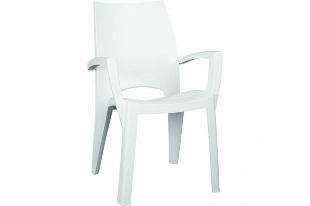 Allibert SPRING 35527 Plastové křeslo - bílé