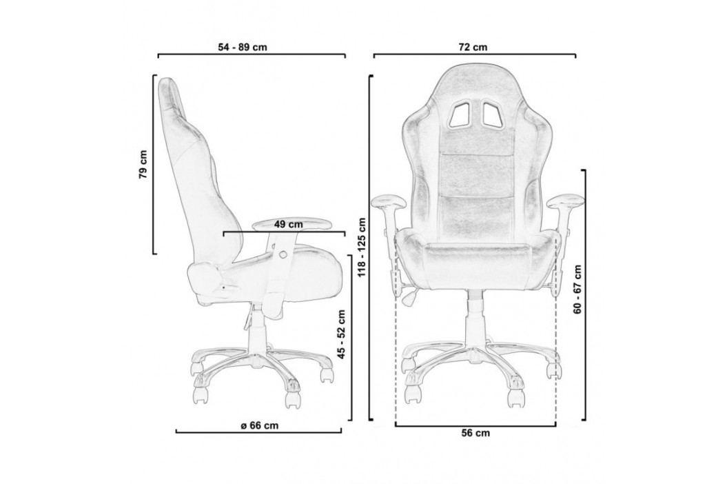 RACEMASTER® 32564 Kancelářská otočná židle RS Series, černá/žlutá