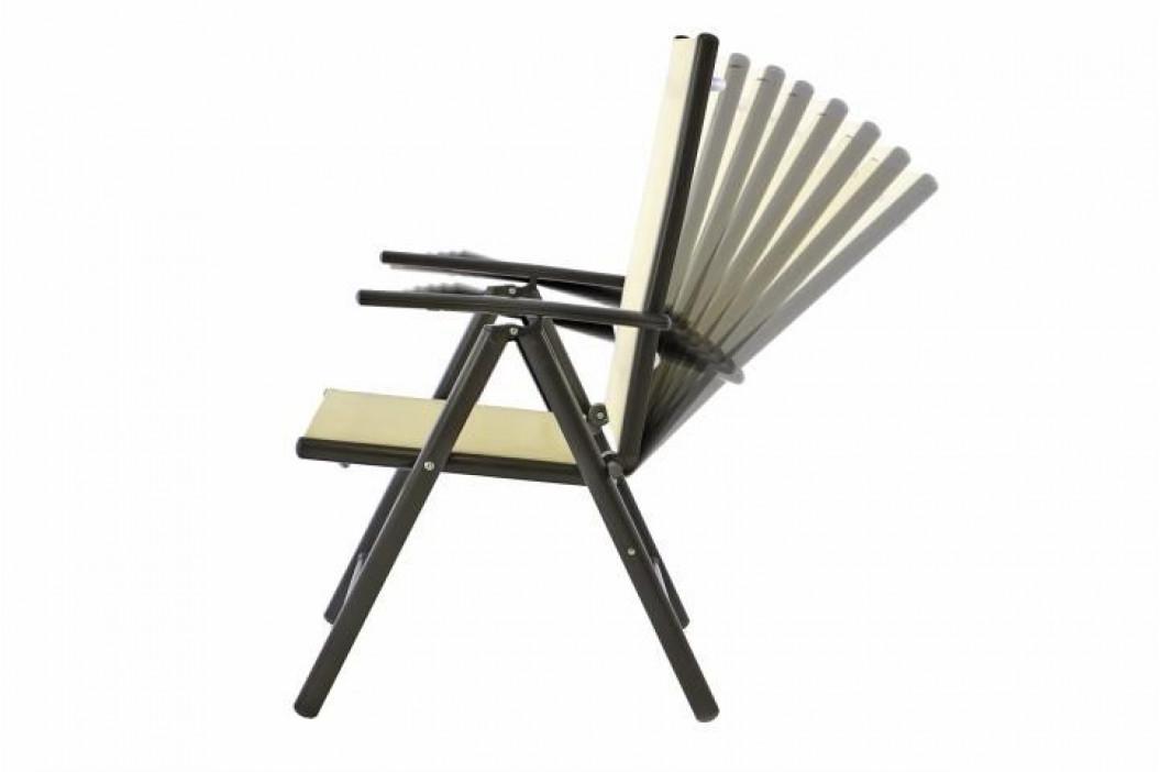 Garthen 40784 Zahradní polohovatelná židle - krémová
