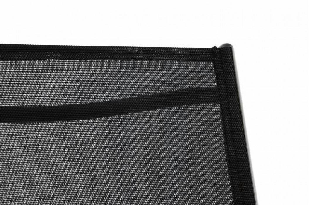 Garthen 40755 Zahradní polohovatelné lehátko - celé černé