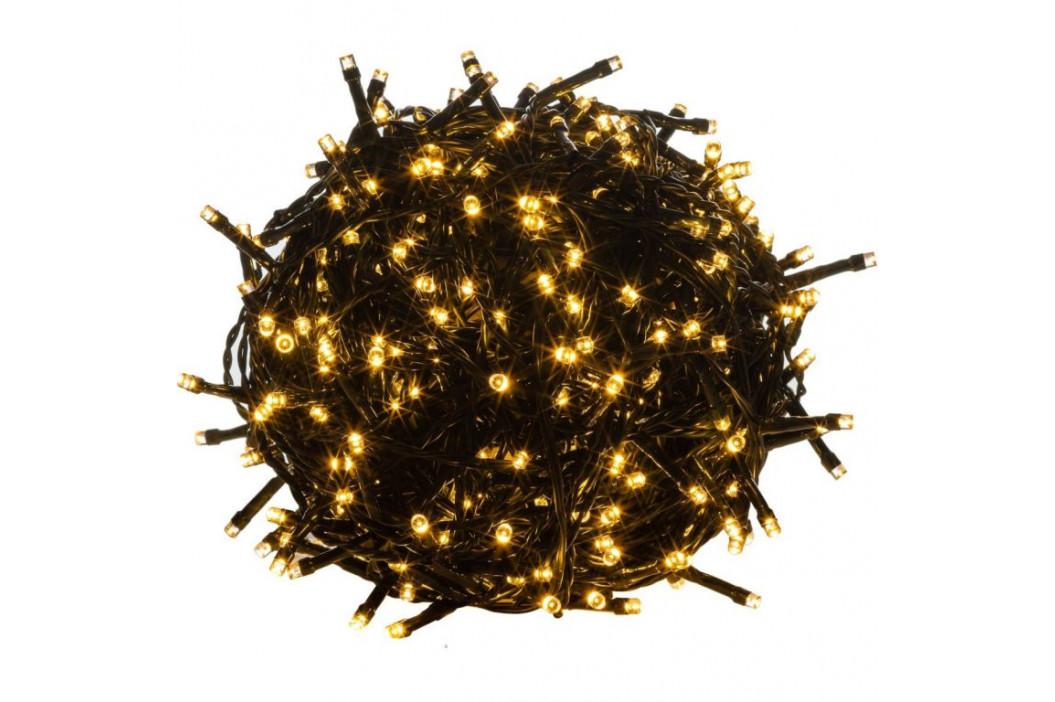 Vánoční osvětlení na stromeček vnitřní - 10 m - teple bílá 100 LED - zelený kabel
