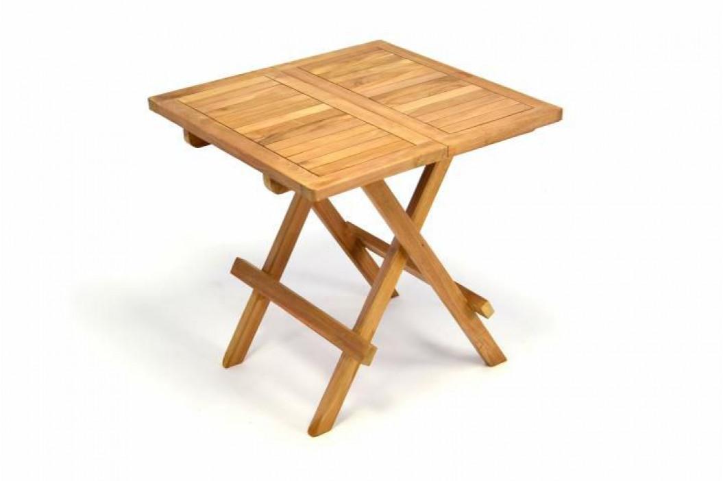 Divero 34944 Zahradní dřevěný skládací stolek  výška 50 cm