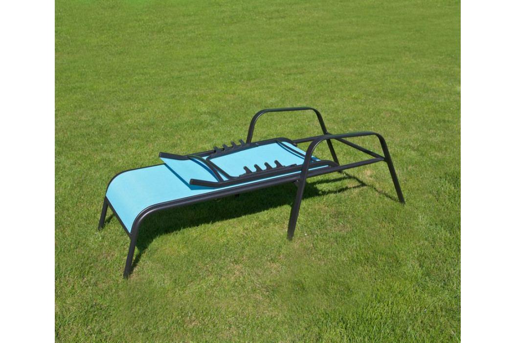 Tradgard 41296 Zahradní lehátko kovové -  světle modré