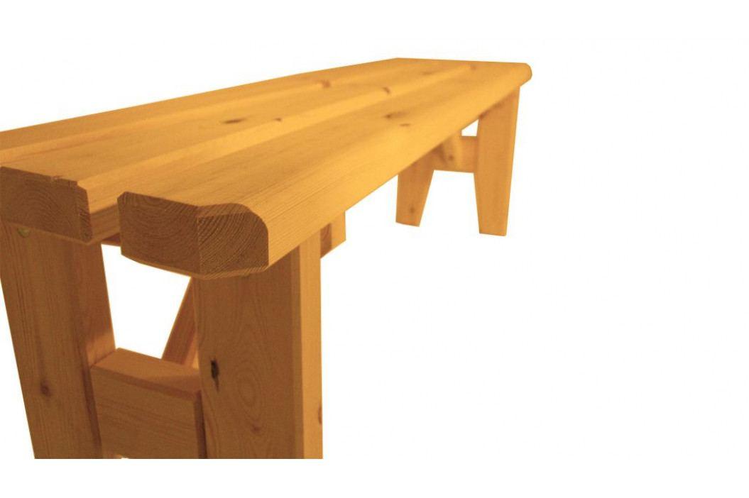 Gaboni 55485 Zahradní dřevěná lavice  bez opěradla I. - s povrchovou úpravou - 150 cm