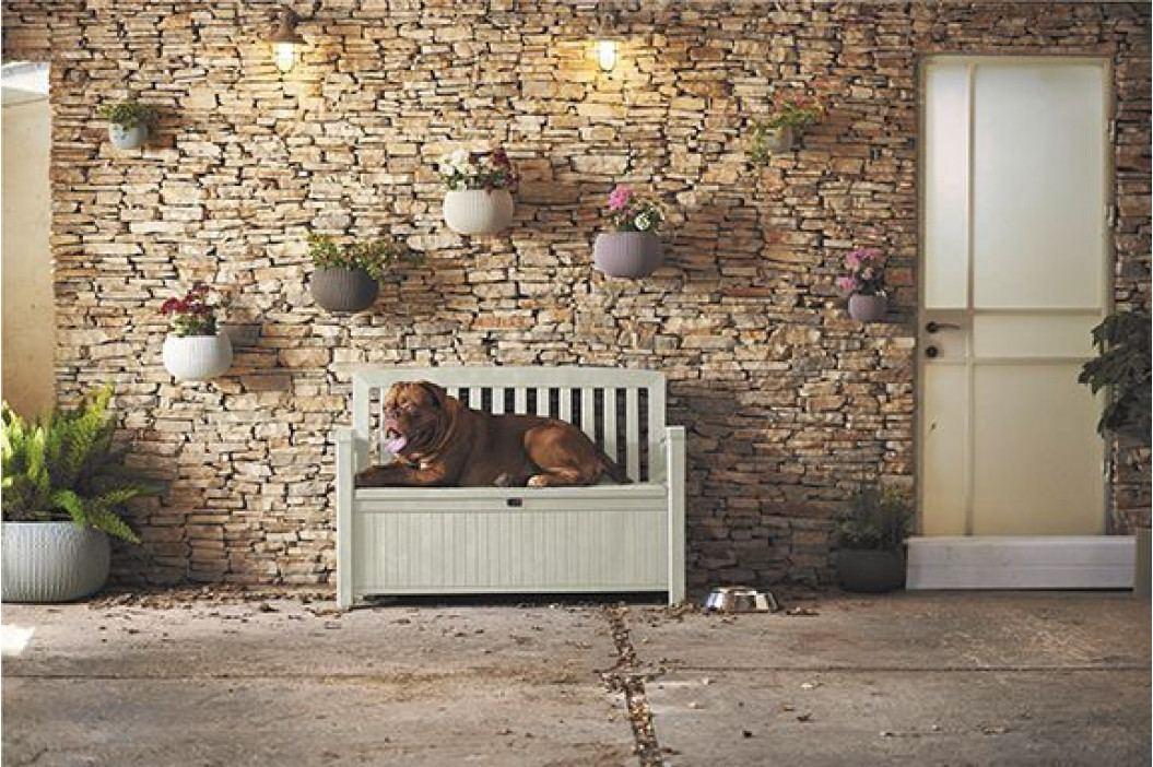 Keter 54567 Zahradní lavice s úložným prostorem PATIO - bílá