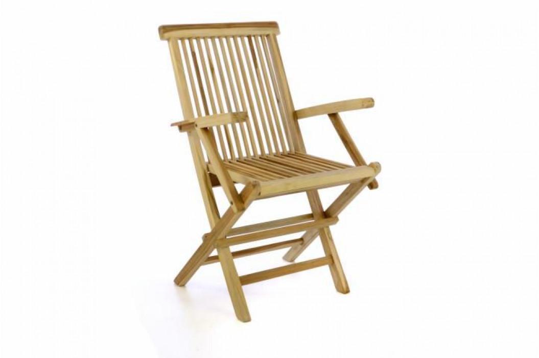 Divero 47298 Zahradní židle skládací - týkové dřevo