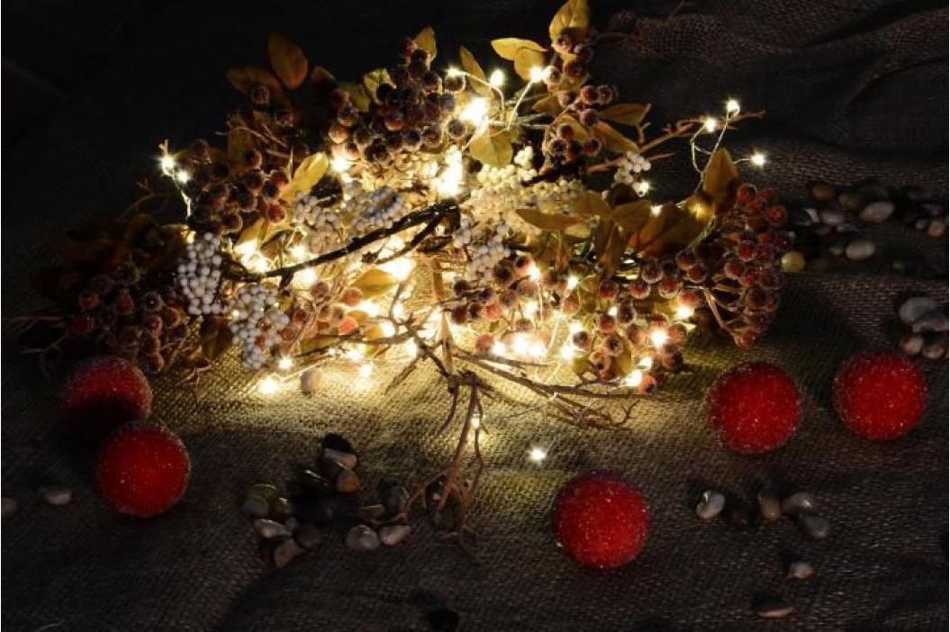 Nexos 47223 Vánoční LED osvětlení 5 m - stříbrný drát - teple bílé 200 LED