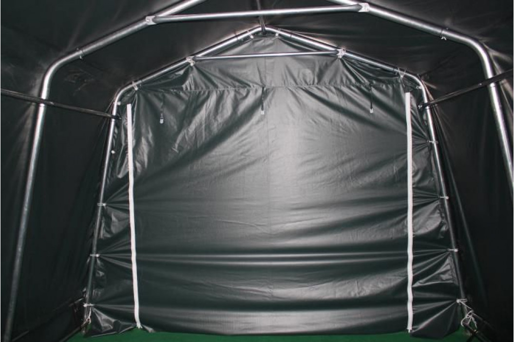 Garthen 47013 Mobilní přístřešek nejen pro zvířata - zelený 3,3 x 4,8 m