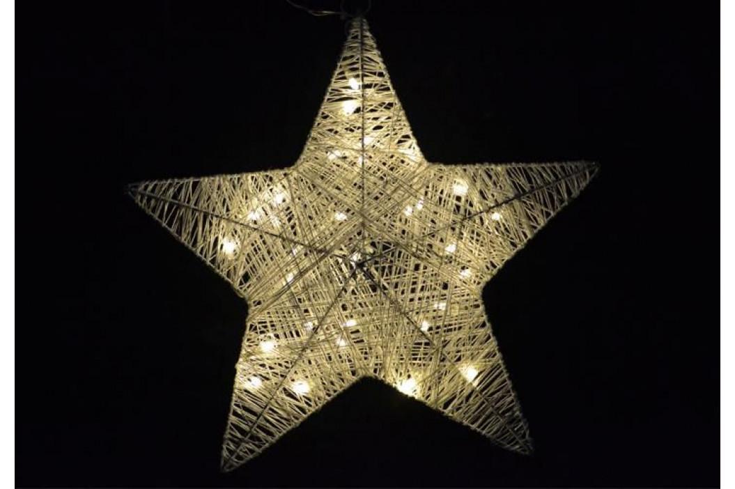 Vánoční svítící hvězda do okna - 35 cm, 30 LED diod