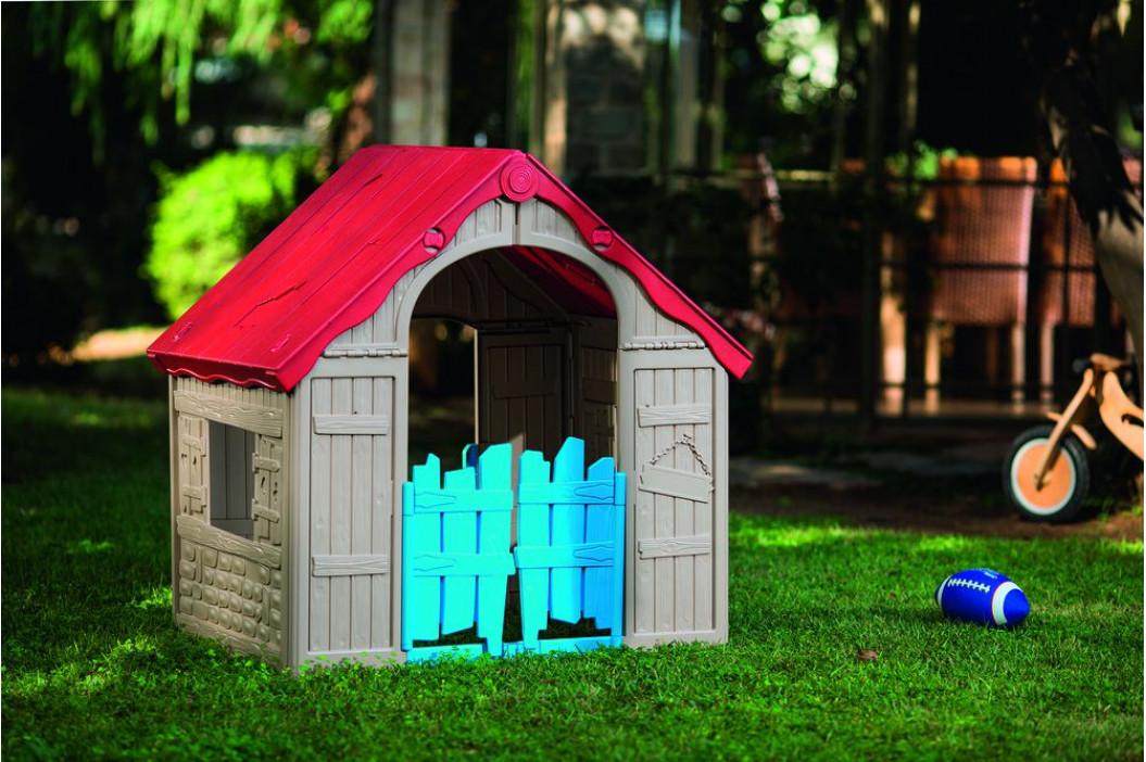 Keter 41461 Plastový skládací dětský domeček - interiér/exteriér