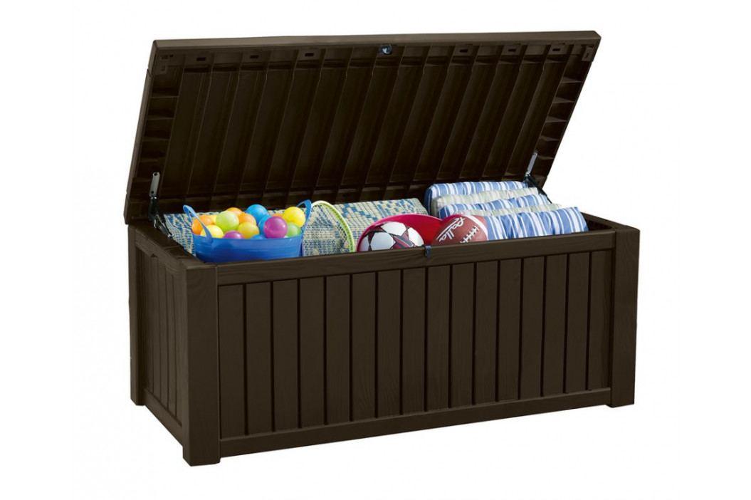 Keter 41453 Zahradní úložný box ROCKWOOD 65 x 76 x 155 cm - hnědý