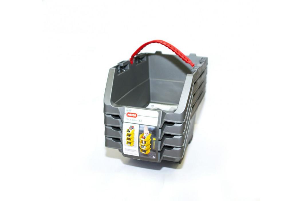 Keter 41076 Sada úložných boxů KETER CLICK BINS set - M - 4 organizéry KETER
