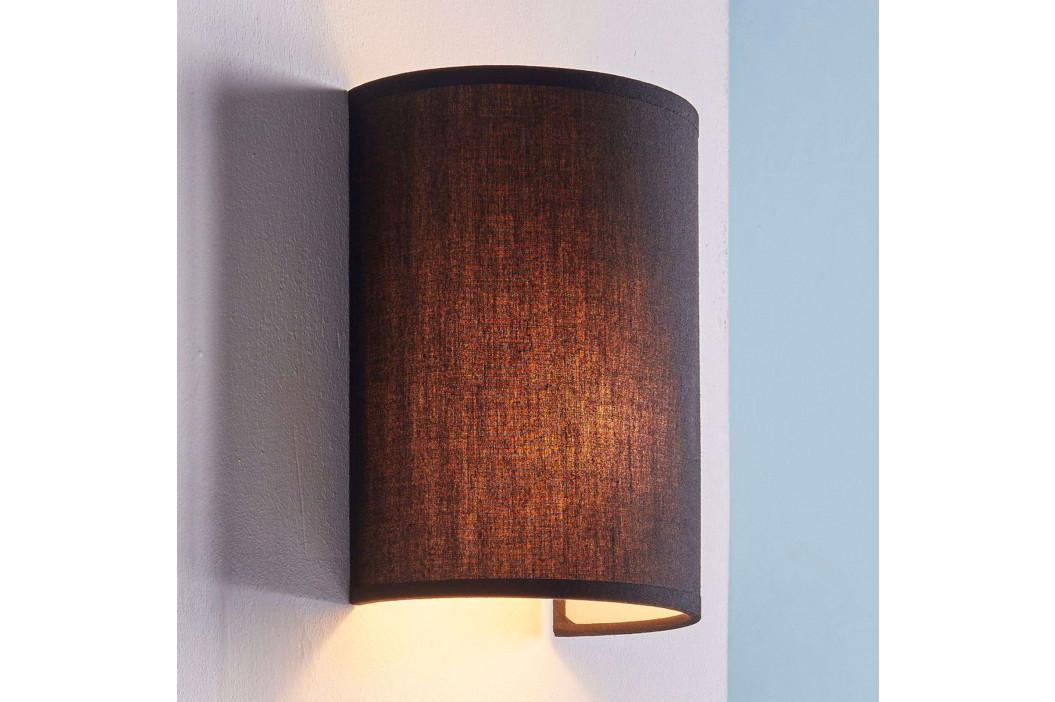 Annalisa - polokruhová textilní lampa v černé
