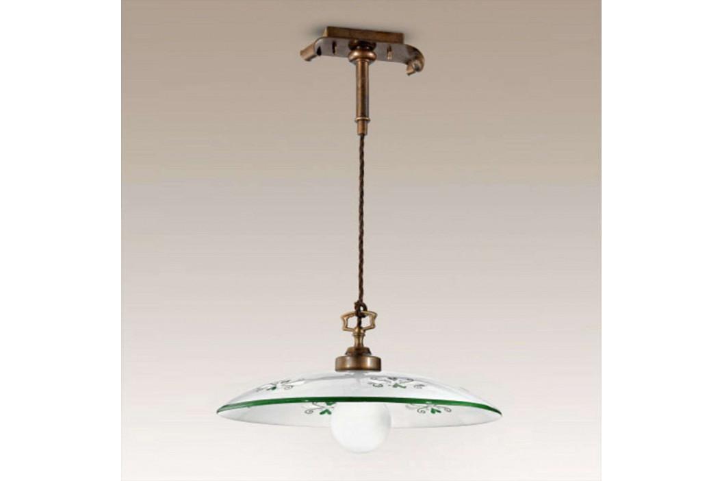 Závěsné světlo Bassano, 1zdrojové, detaily zelené