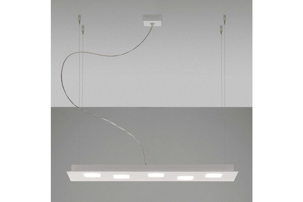 Fabbian Quarter - bílé závěsné světlo LED 5zdr
