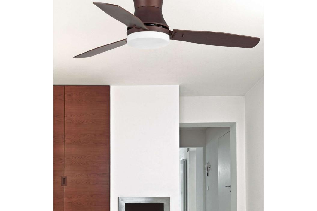 TONSAY stropní ventilátor tmavohnědý s osvětlením