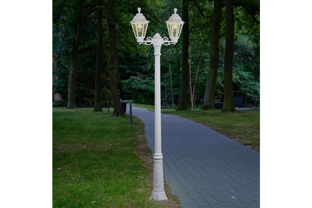 Bílé stožárové LED svítidlo Artu Rut, 2 zdroje E27