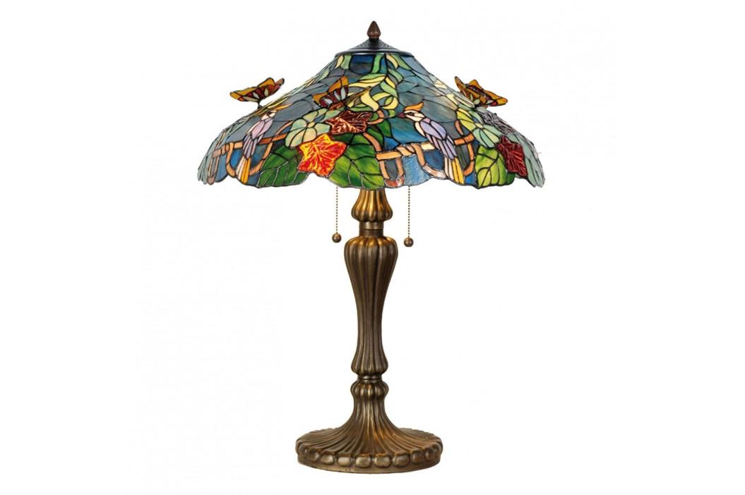 Mistrná stolní lampa Australia, Tiffany styl