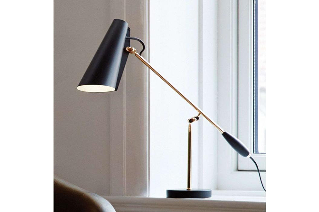 Northern Birdy - stolní lampa v černé/mosazi