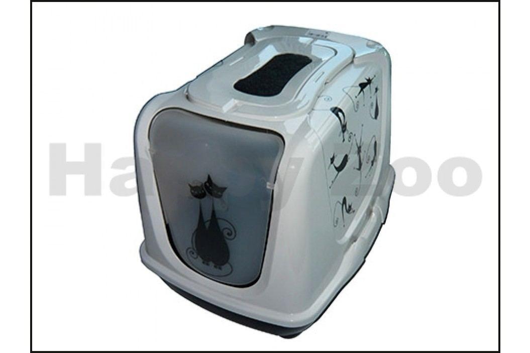 Toaleta RIGA Dekor kočky krytá 39x50x40cm
