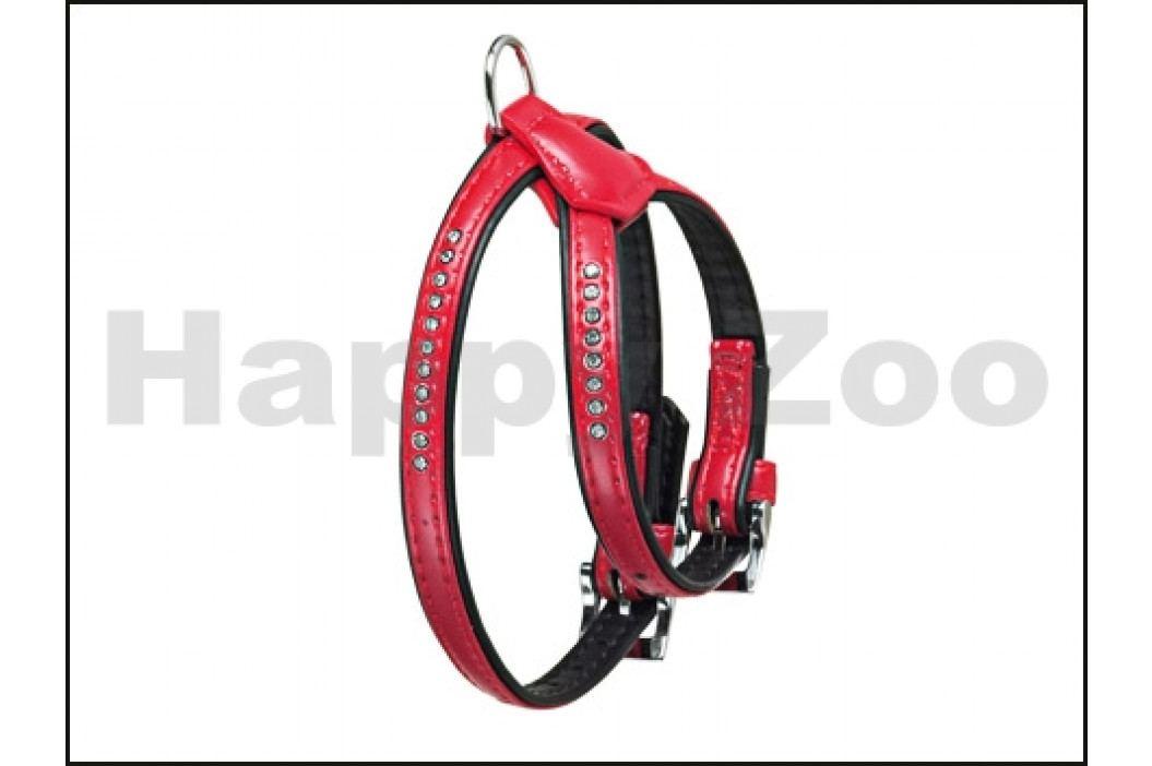 Postroj FLAMINGO Art Leather Plus Monte Carlo štrasový červený ( obrázek inspirace