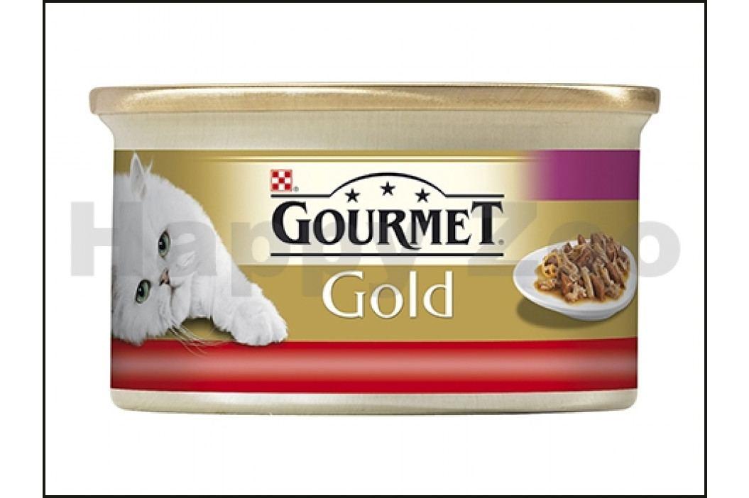 Konzerva GOURMET Gold - hovězí a kuře (kousky masa) 85g