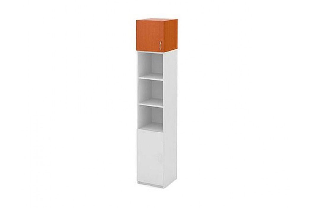 Nástavná skříň, 1 dveře - buk