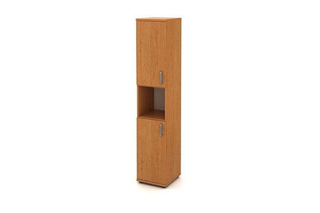 Skříň vysoká úzká 2-dveřová s nikou