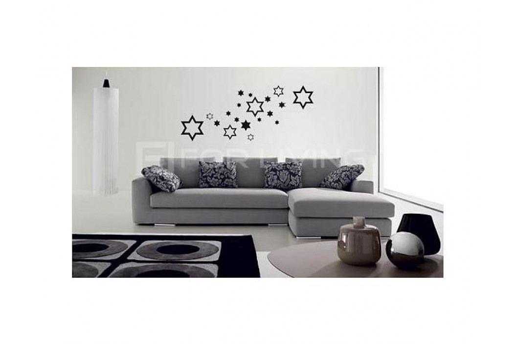 Samolepicí dekorace Hvězdy, černá, mat